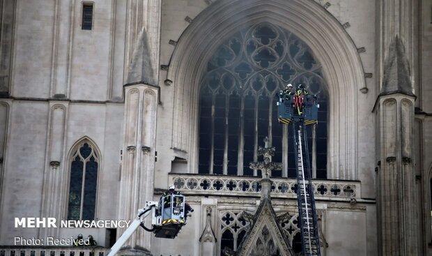 یک مظنون در ارتباط با آتش سوزی کلیسای جامع نانت بازداشت شد